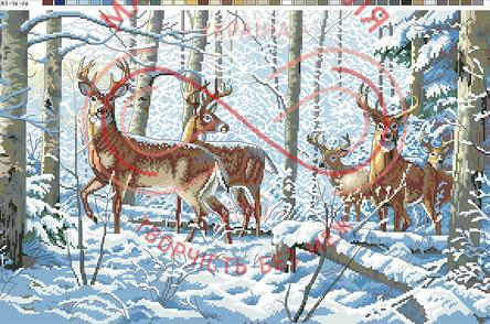 Схема на канві для вишивання хрестиком картина - А3-16-26