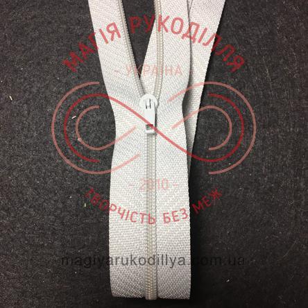 Молния для платья (Китай) 50см (тип 3) - оттенки серого