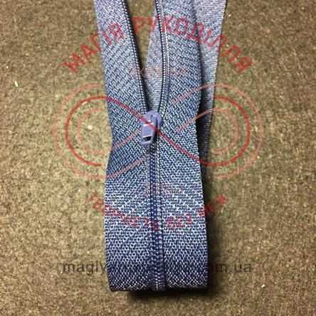 Молния для платья (Китай) 50см (тип 3) - оттенки синего