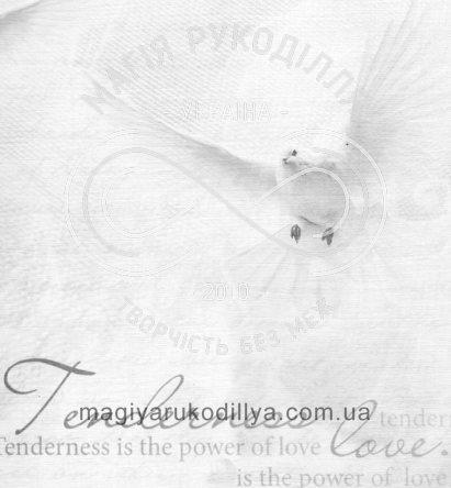 Папір для скрапбукінга 30см*30см - кохання та голуби