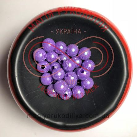 Намистинки вагові d8мм - фіолетовий перлистий веселковий