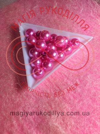 Намистинки вагові d8мм - яскравий рожевий перлистий