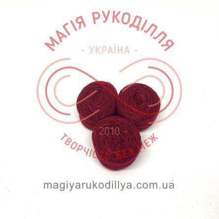 Нитка акрилова для вишивання - №077/040 відтінки бордового