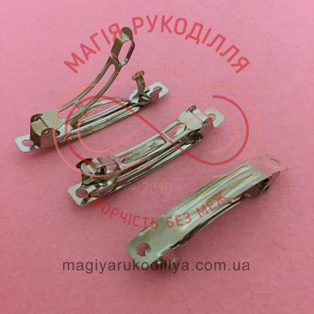 Основа для заколки автоматик 5см - сріблястий