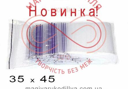Пакети струна із замком zip-lock 35мм*45мм (упаковка 100шт) - прозорі