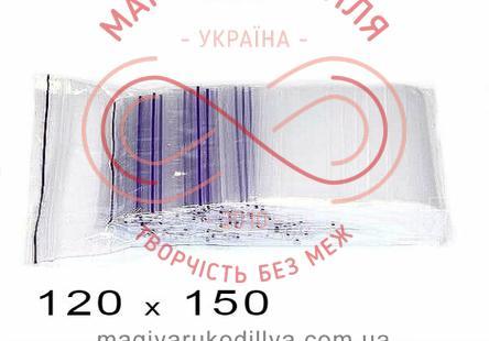 Пакети струна із замком zip-lock 120мм*150мм (упаковка 100шт) - прозорі