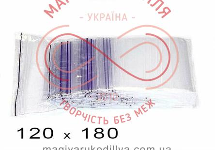 Пакети струна із замком zip-lock 120мм*180мм (упаковка 100шт) - прозорі