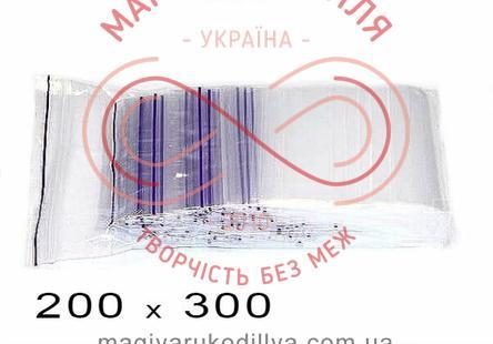 Пакети струна із замком zip-lock 200мм*300мм (упаковка 100шт) - прозорі