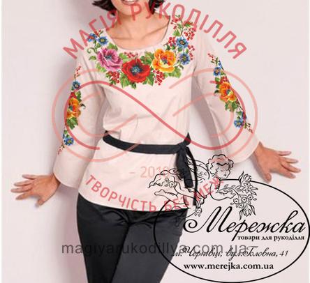 Схема паперова для вишивання хрестиком сорочка жіноча - 12-33 Кольорові сни