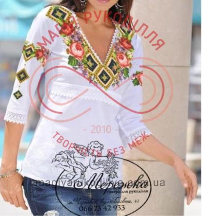 Схема паперова для вишивання хрестиком сорочка жіноча - 12-05 Елегантність