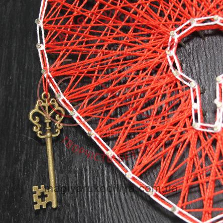 Набір для творчості Барвиста павутинка - Ключик від серця