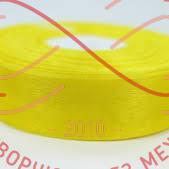 Стрічка органза 24мм - жовтий