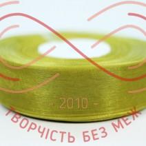 Стрічка органза 24мм - оливковий