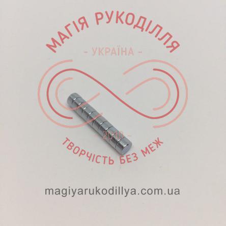 Магніт неодимовий d5мм h3мм - сріблястий