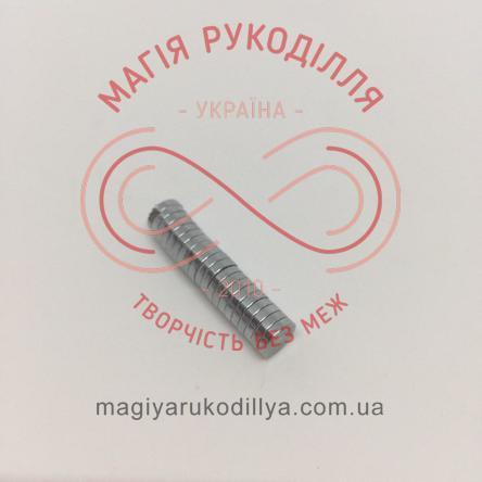 Магніт неодимовий d6мм h1,5мм - сріблястий
