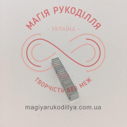 Магніт неодимовий 5мм*5мм*1,5мм - сріблястий