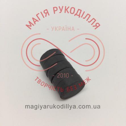 Магніт феритовий d15мм h5мм - чорний