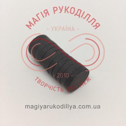 Магніт феритовий d15мм h3мм - чорний