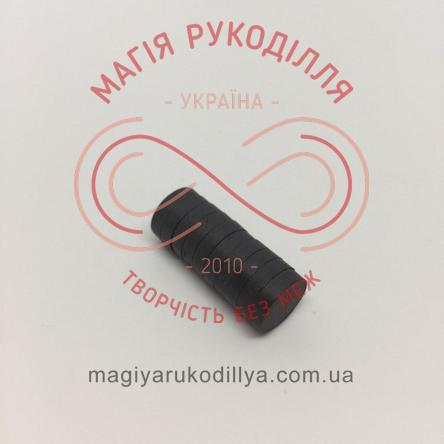 Магніт феритовий d12мм h3мм - чорний