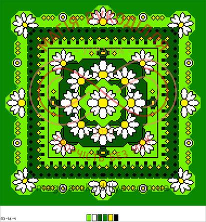 Схема на канві для вишивання хрестиком подушка - П3-16-04