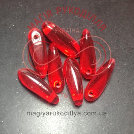 Намистинка Краплинка Gutermann (Німеччина) 601616 - 4295 червоний прозорий