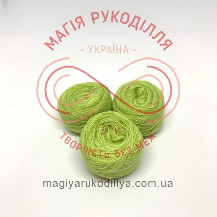 Нить акриловая для вышивания - №117 / 510 оттенки зеленого