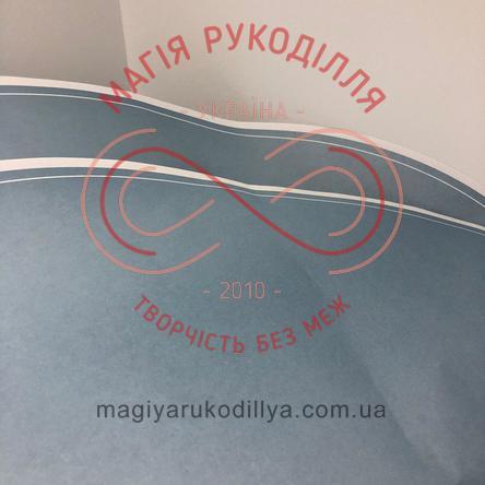 Папір пакувальний двосторонній круглий d57см - блакитний