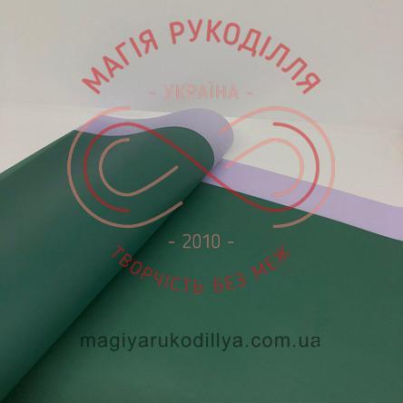 Калька пакувальна двостороння з бузковими смужками - відтінки зеленого