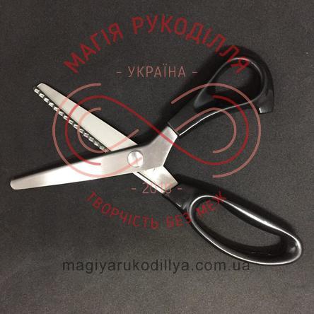 """Ножиці кравецькі """"зиг-заг"""" металеві довжина леза 11,5см довжина леза із зиг-загом 7,5см"""