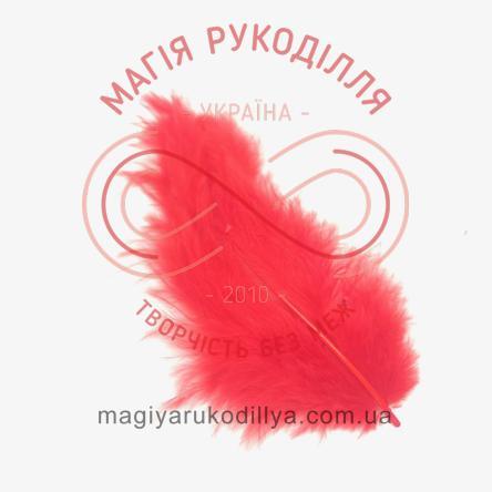 Пір'їнка марабу 80-100мм - червоний