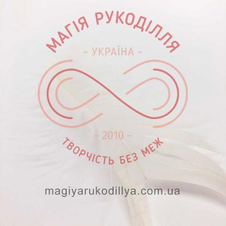 Пір'їнки марабу 20-100мм 1упаковка/10шт - білий