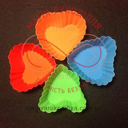 Кондитерські силіконові форми для кексиків 12шт/набір - серденька