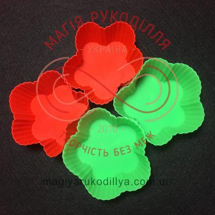 Кондитерські силіконові форми для кексиків 12шт/набір - квіточки