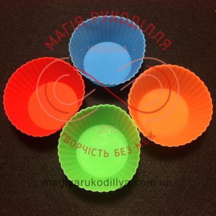 Кондитерські силіконові форми для кексиків 12шт/набір - круглі