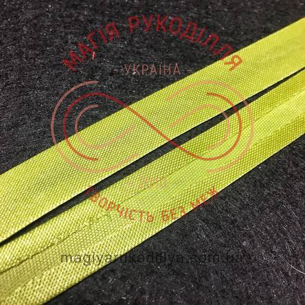 Коса бейка атласна 15мм (Китай) - оливковий