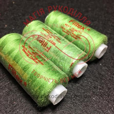 Нитка Filtex універсальна - відтінки зеленого