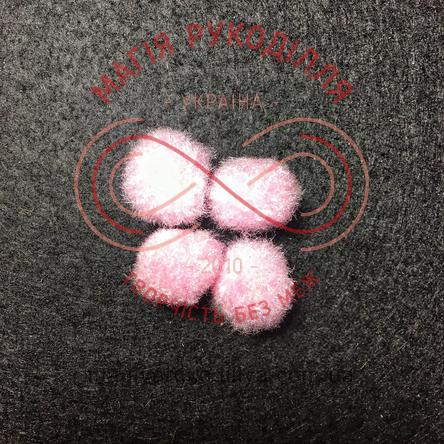 Помпон декоративний d13мм - світлий рожевий