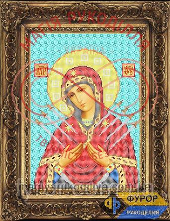 Схема для вишивання бісером ікона - ИБ4-012-1 Пресвята Богородиця Семистрільна