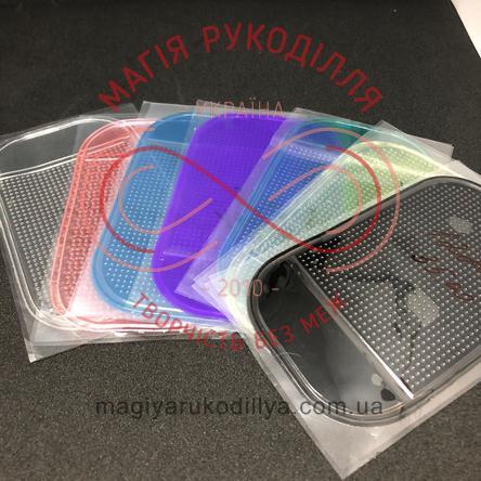 Органайзер для бісеру липкий килимок (овальний 14,2см*8,3см) - кольоровий