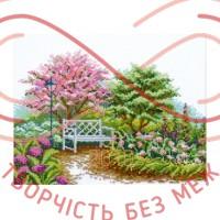 Набір для вишивання хрестиком - П5-011/Р Квітучий сад
