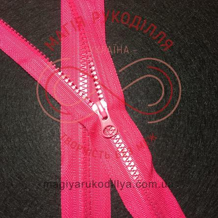 Блискавка тракторна роз'ємна (Китай) 80см (тип 5) - відтінки рожевого 10687