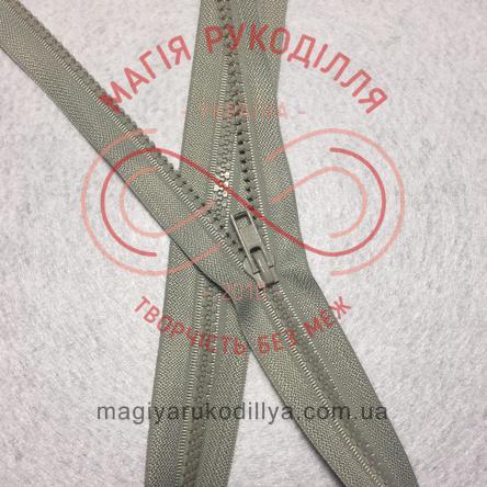 Блискавка тракторна роз'ємна (Китай) 80см (тип 5) - відтінки сірого 10693