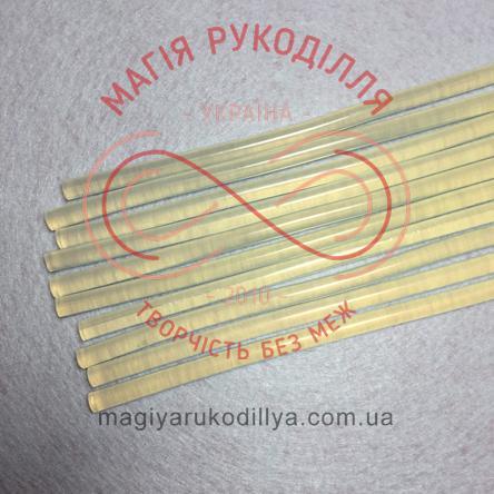 Термоклей силіконовий d7мм/30см - прозорий