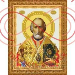 Схема для вишивання бісером ікона атлас А4 - ТО-068 Святий Миколай Чудотворець