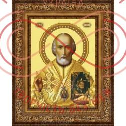Схема для вишивання бісером ікона атлас А4 - ТО-072 Святий Миколай Чудотворець