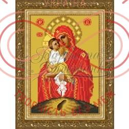 Схема для вишивання бісером ікона атлас А4 - ТО-084 Лочаєвська Божа Матір