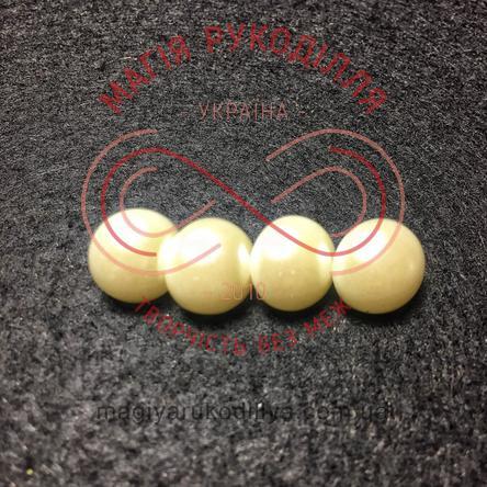 Гудзик сорочковий на ніжці d20L/12мм - молочний перлистий