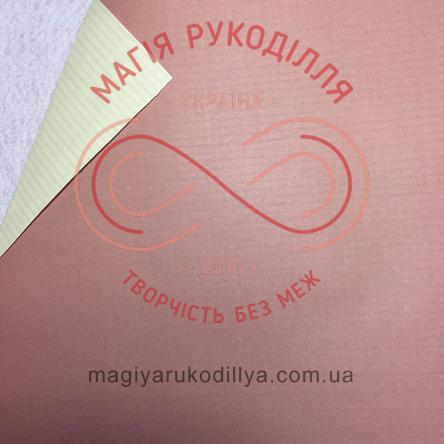 Папір пакувальний двосторонній - кавовий-бежевий