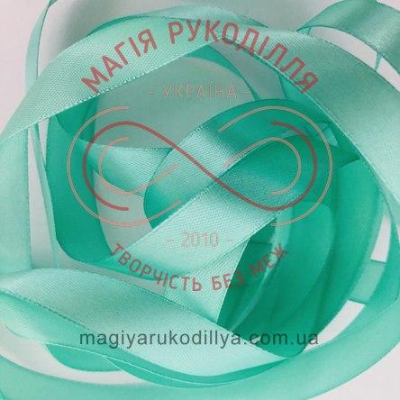 Стрічка Peri атласна 51мм (Китай) - №136 відтінки м'ятного
