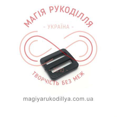 Обмежувач пластиковий із перетинкою 2,0см*1,8см - чорний